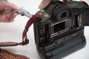 カメラのCCD面またはフイルム面までの距離を測定