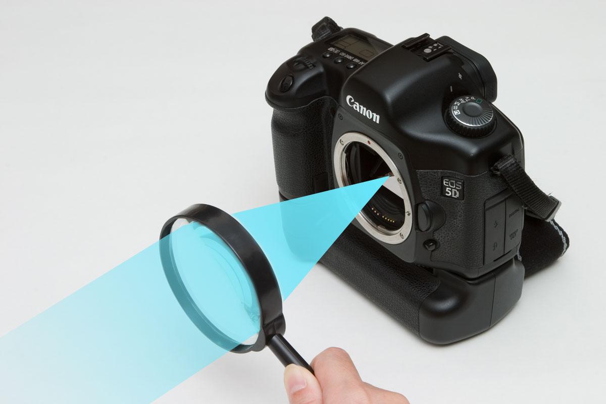 凸レンズ1枚だけを使った撮影方法のイメージ図