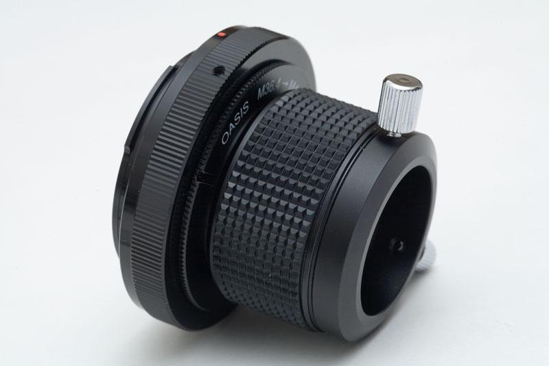 カメラマウントとヘリコイド本体の組み立て
